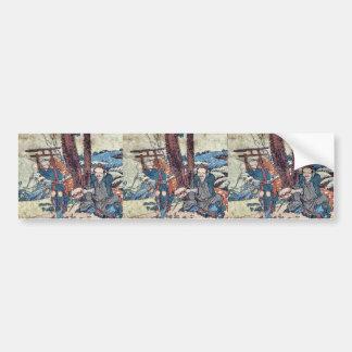 Nissaka  by Katsushika, Hokusai Ukiyoe Bumper Sticker