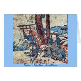Nissaka por Katsushika, Hokusai Ukiyoe Tarjeta De Felicitación
