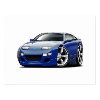 Nissan 300ZX Dk Blue Car Postcard