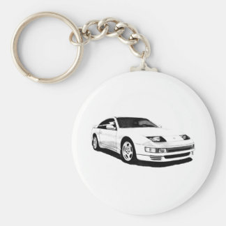 Nissan 300ZX Twin Turbo Basic Round Button Keychain