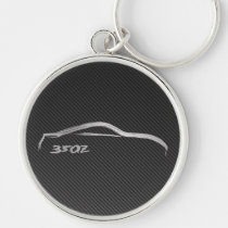 Nissan 350Z Logo with Faux Carbon Fiber Keychain