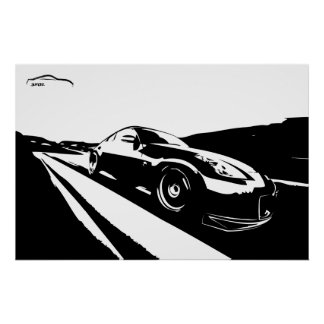 Nissan 350z Rolling Shot Poster
