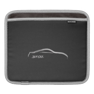 Nissan 350Z Silhouette Logo with Faux Carbon Fiber Sleeves For iPads
