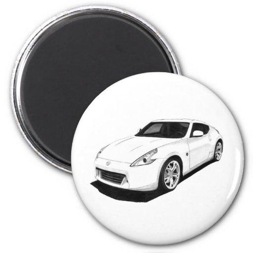 Nissan 370Z Artwork 2 Inch Round Magnet