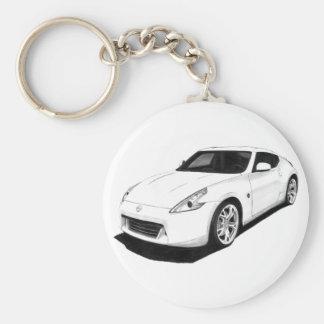 Nissan 370Z Basic Round Button Keychain