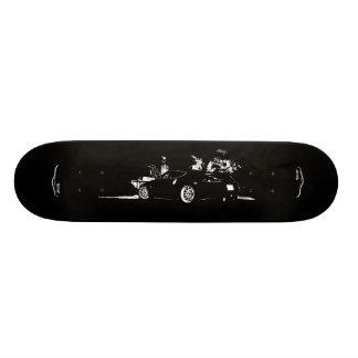 Nissan 370z Graphic Skateboard with Brush Stroke