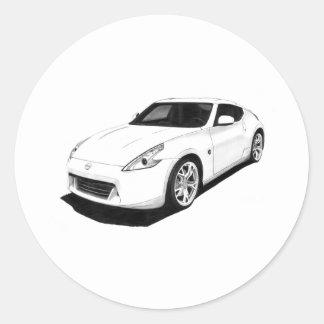 Nissan 370Z Pegatina Redonda