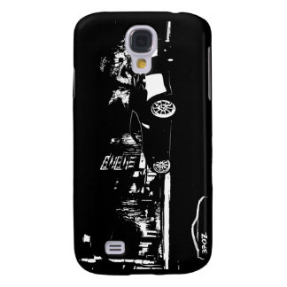 Nissan 370z Stance Shoot with White Brush Stroke Samsung Galaxy S4 Case