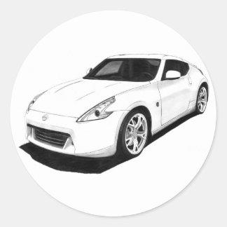 Nissan 370Z Round Stickers