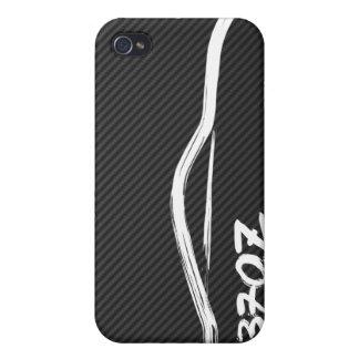 Nissan 370z White Brush Stroke iPhone 4 Case