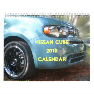 Nissan cubica el calendario 2010