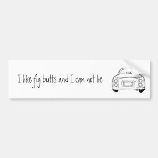 Nissan Figaro Car Line Art Bumper Sticker