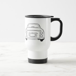 Nissan Figaro Car Line Art - Car Travel Mug