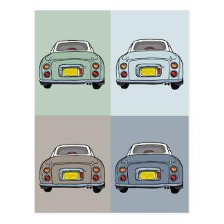 Nissan Figaro Cars Postcard