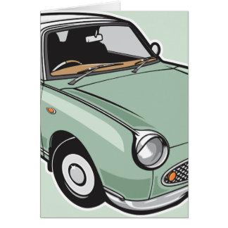 Nissan Figaro Emerald Green Card