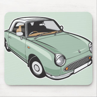 Nissan Figaro Emerald Green Mouse Pad
