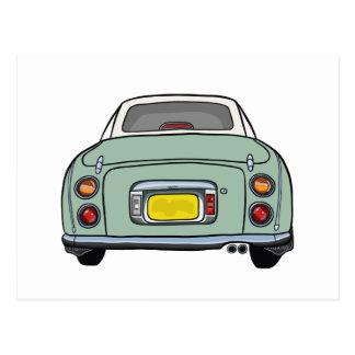 Nissan Figaro - Emerald Green - Postcard