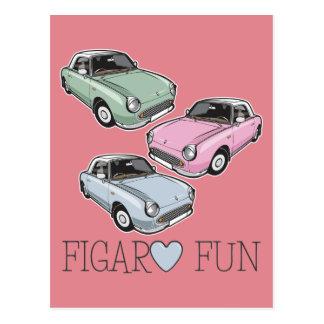 Nissan Figaro Fun Postcard