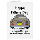Nissan Figaro - Happy Father's Day Card