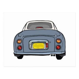 Nissan Figaro - Lapis Grey - Postcard