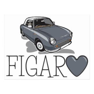 Nissan Figaro Lapiz Grey Postcard
