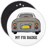 Nissan Figaro - niebla del Topaz - mi insignia del Pin Redondo De 6 Pulgadas