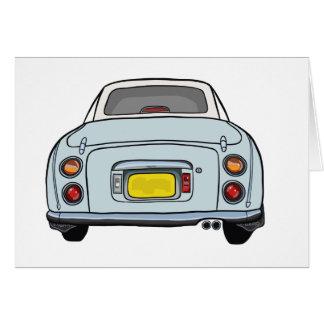 Nissan Figaro - Pale Aqua Greeting Card