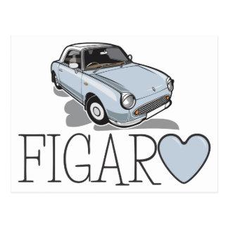 Nissan Figaro Pale Aqua Postcard
