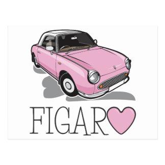 Nissan Figaro Pink Postcard