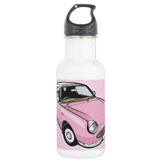 Nissan Figaro Pink Stainless Steel Water Bottle