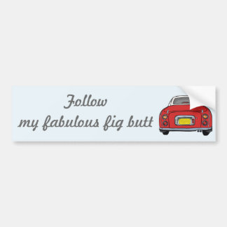 Nissan Figaro - rojo especial: Siga mi fabuloso Pegatina Para Coche