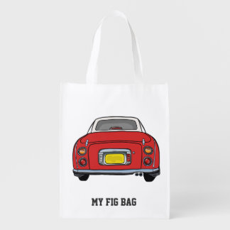 Nissan Figaro Special Red My Fig Bag Reusable Grocery Bags