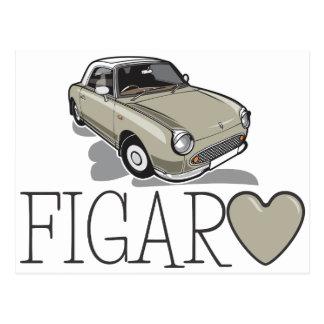 Nissan Figaro Topaz Mist Postcard