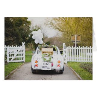 Nissan Figaro Wedding Car Card