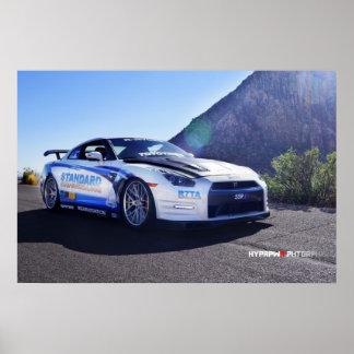 Nissan GT-R 2014 en Las Vegas para SEMA Posters
