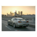 NISSAN GT-R R34 SKYLINE IN LOS ANGELES PHOTO PRINT