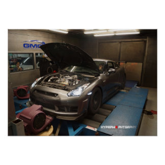 Nissan GT-R R35 Dyno Tuned for Methanol Injection Poster