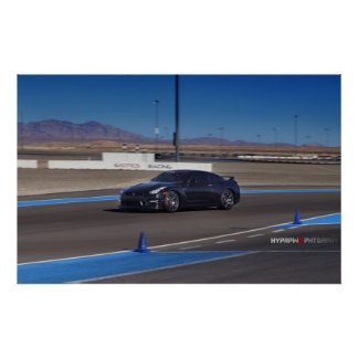 Nissan GT-R R35 on the Track Poster