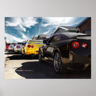 Nissan GT-R R35, R34, R33, R32, horizonte de Posters