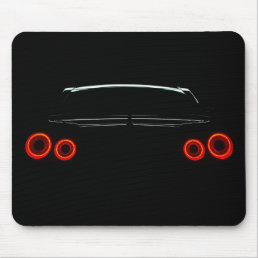 Nissan GT-R Rear Lights Mouse Pad