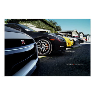 Nissan GT-R Skyline Photo Shoot R35, R34, R33, R32 Poster
