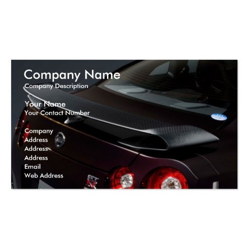 nissan-gt-r-specv-08, Company Name, Company Des... Business Card