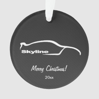 Nissan Skyline GT-R - Faux Carbonfiber background Ornament