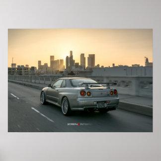 Nissan Skyline GT-r R34 en Los Ángeles céntrico Impresiones