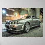 Nissan Skyline GT-R R34 in Downtown Los Angeles Print