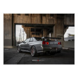 Nissan Skyline GT-R R34 in Downtown Los Angeles Posters