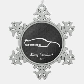 Nissan Skyline GT-R Snowflake Pewter Christmas Ornament