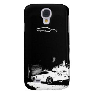 Nissan Skyline GTR con el logotipo blanco de la si Funda Para Galaxy S4