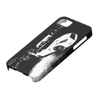 Nissan Skyline GTR con la ciudad enciende el conte iPhone 5 Case-Mate Cárcasas