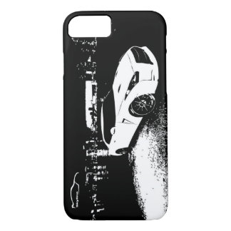 Nissan Skyline GTR with City Lights Backdrop iPhone 7 Case